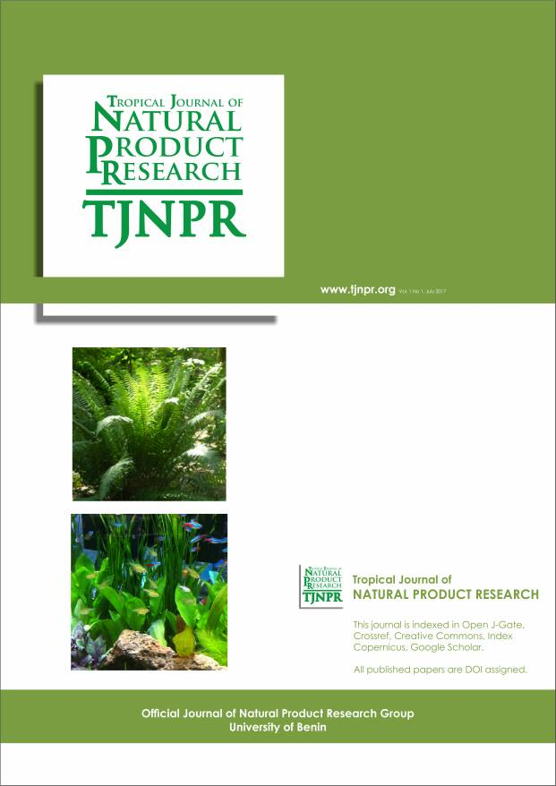 Cover Page of Tropical Journal of Natural Product Research